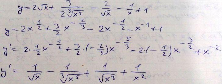 Примеры решения простых производных. Math24.biz